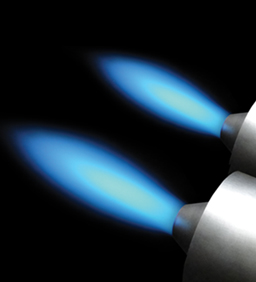 ThermJet Self-Recuperative Burners Flame