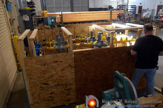 Gas Valve Train Assemblies Safety Crated