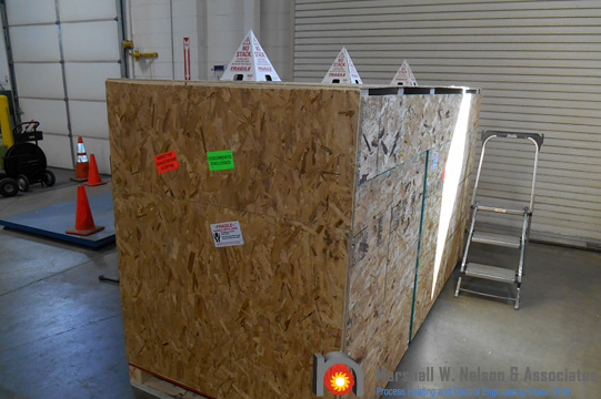 Gas Valve Train Assemblies Crated to Ship