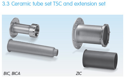 BIC and ZIC Ceramic tube set TSC and extension set