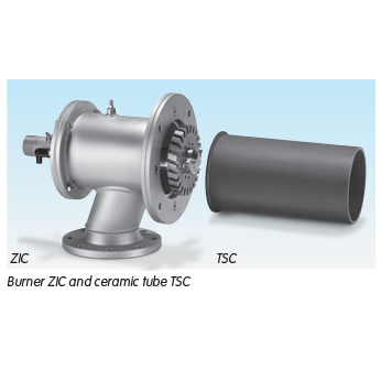 Burner ZIC and ceramic tube TSC
