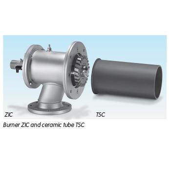 Burner ZIC and ceramic tube TSC