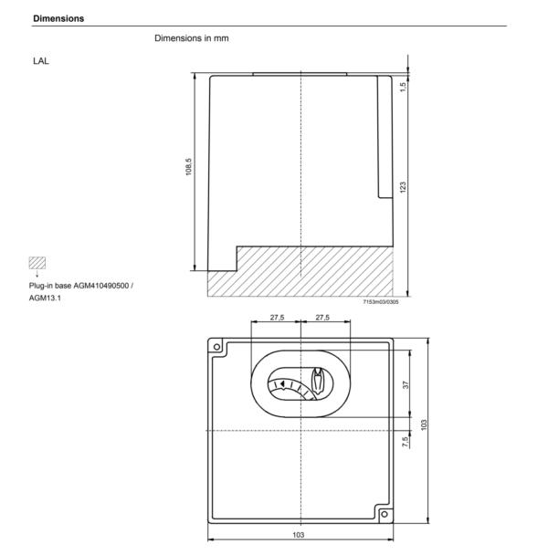 Siemens LAL Oil Burner Control Dimensions