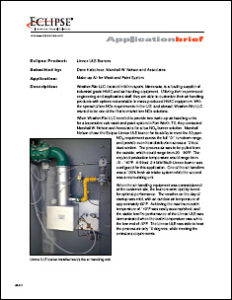 MWN Case Study Make-up Air for Wash and Paint System