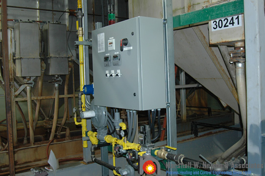 Industrial Custom Control Panel on Gas Train Application