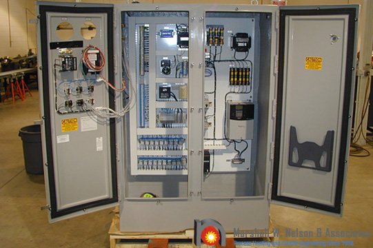 Industrial Custom Control Panel in Shop
