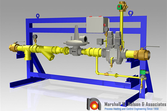 Gas Valve Train Assemblies 3D Modeling