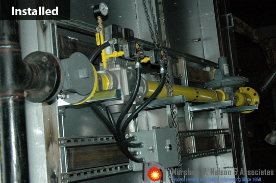 Industrial Gas Valve Train Assembly Installed