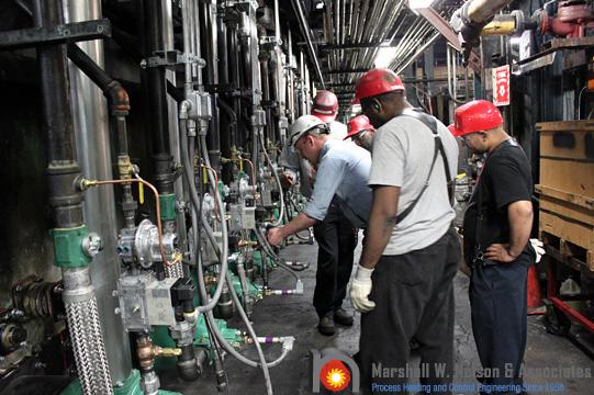Industrial Burner System Training After Installation