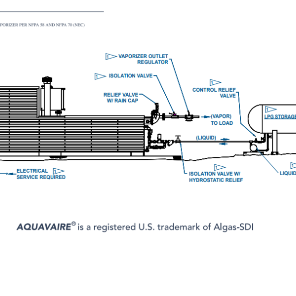 Algas SDI AQUAVAIRE Horizontal Gas-Fired Waterbath Vaporizer