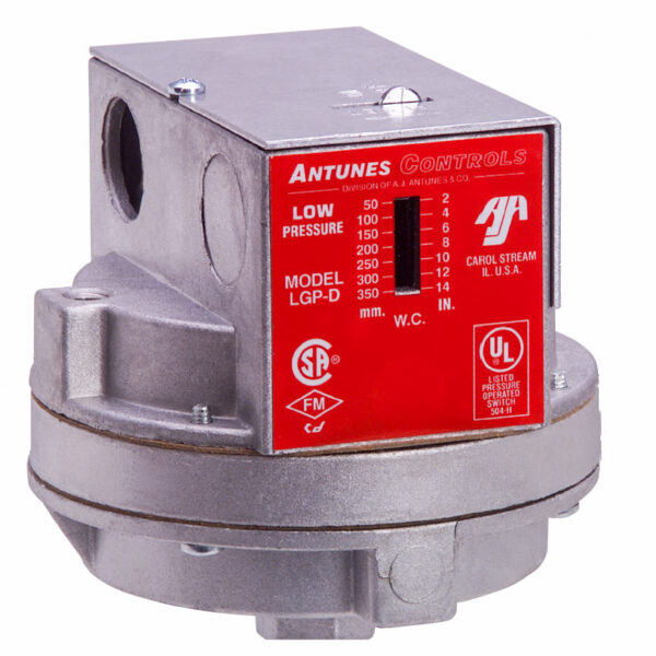 Antunes Model D Gas Pressure Switch