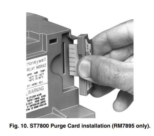 Honeywell RM7895 Purge Card Installation