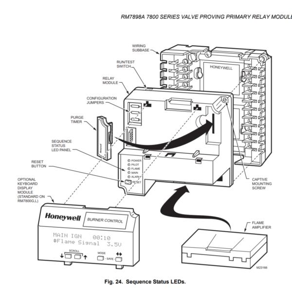 Honeywell RM7898 Valve Proving Primary Relay Modules