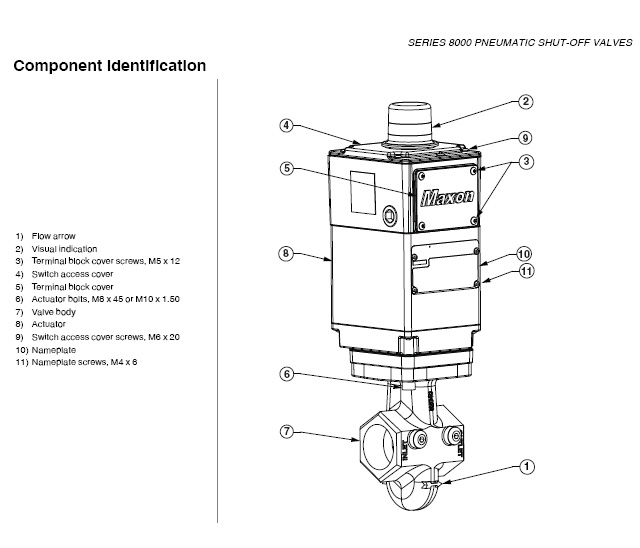 Honeywell Maxon 8000 Series Electro-Pneumatic Gas Shut Off ... on
