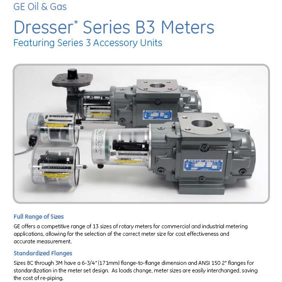 GE Dresser Series B3 Rotary Meters