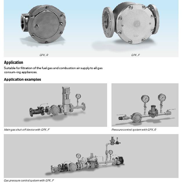 honeywell kromschroder gfk gas filters
