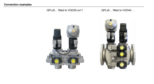 Siemens QPL Versa Pro connection VG Gas Valve Bodies