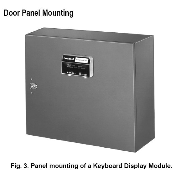 Honeywell Keyboard Display Module Door Panel Mounting
