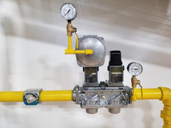 Siemens Standard Gas Valve Train modified for customer application