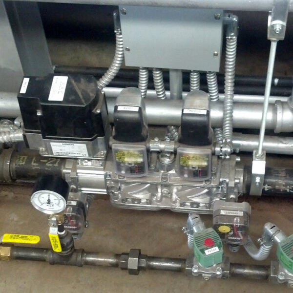Standard Gas Valve Train Application Assembled Installed by Marshall W. Nelson & Associates, Inc.