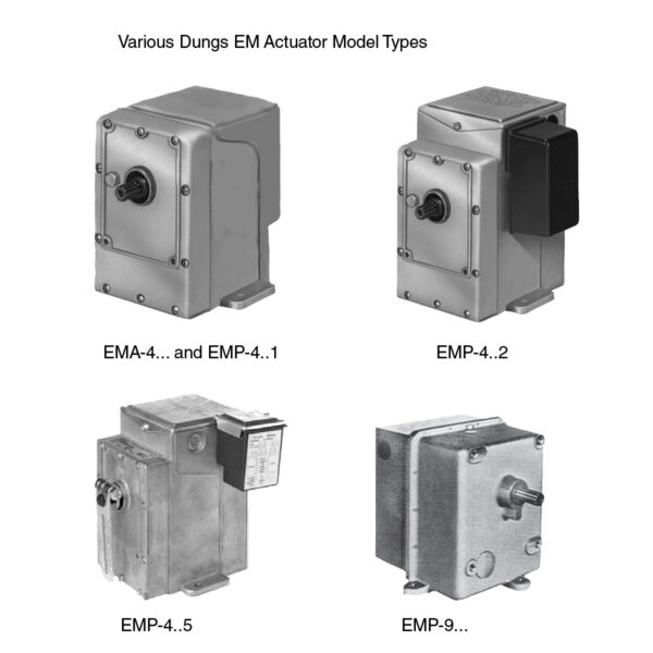 Karl Dungs Combustion EM Actuator Model Types