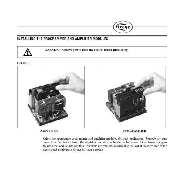 Fireye Programmer Amplifier Modules Installation