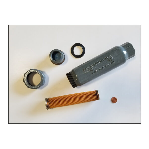"Honeywell 1"" Inline Gas Filter Assembly"