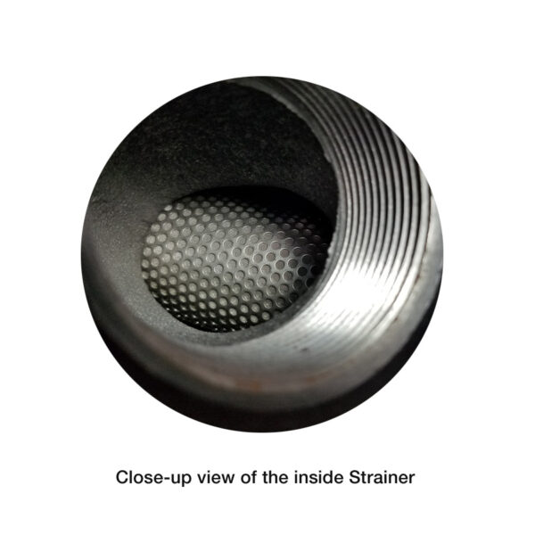 Keckley Pipe Strainer close-up