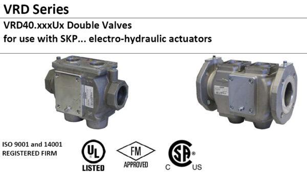 VRD40 Biogas Double Body Gas Valves Safety Shutoff