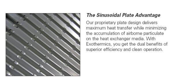 Heat Exchanger Sinusoidal Plate Advantage