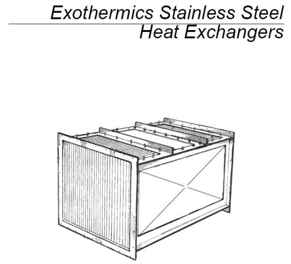 Exothermics Stainless Steel Heat Exchanger
